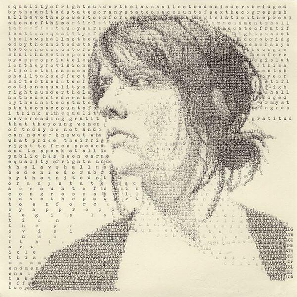 Portraits mit einer Schreibmaschine auf´s Papier bringen