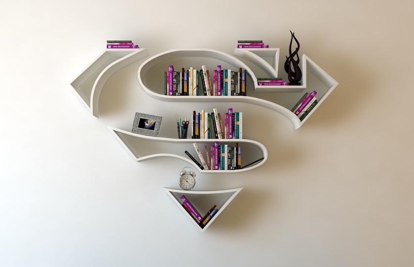 Ausgefallene Bücherregale bücherregale im superhelden look tyrosize