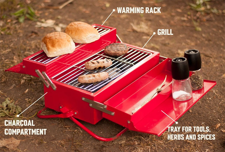 Must Have für den Sommer: Der Werkzeugkasten-Grill