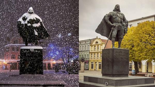 Wenn Schneeflocken eine Statue in Darth Vader verwandeln
