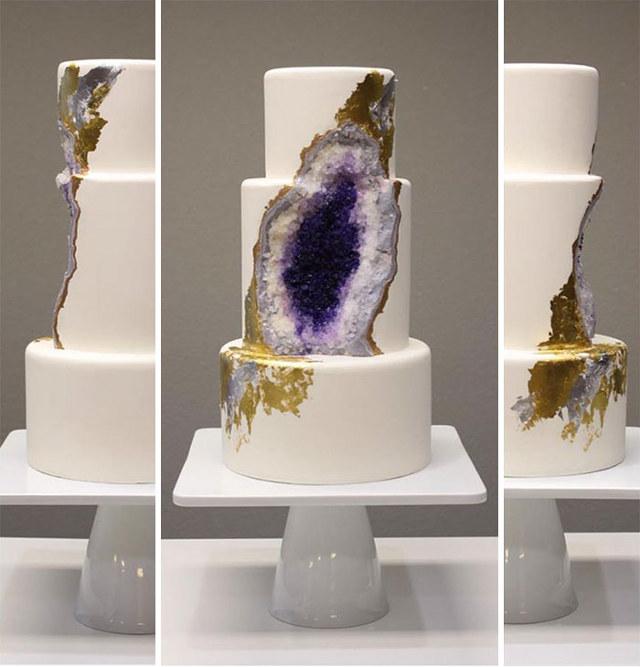 Essbare Geode – Eine Torte mal anders