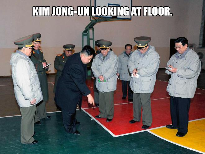 Nur eine Galerie von Kim Jong-un, wie er sich Dinge anschaut