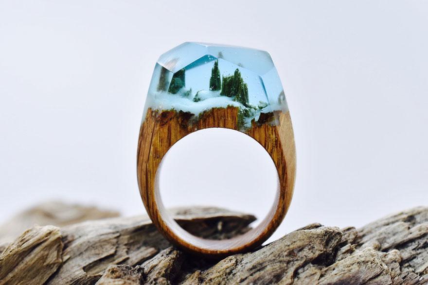 Handgefertigte landschaftsringe aus holz und harz tyrosize for How to carve a wooden ring