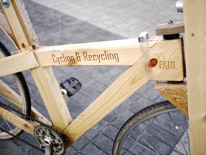 ein fahrrad aus holz und anderen fundsachen selber bauen. Black Bedroom Furniture Sets. Home Design Ideas